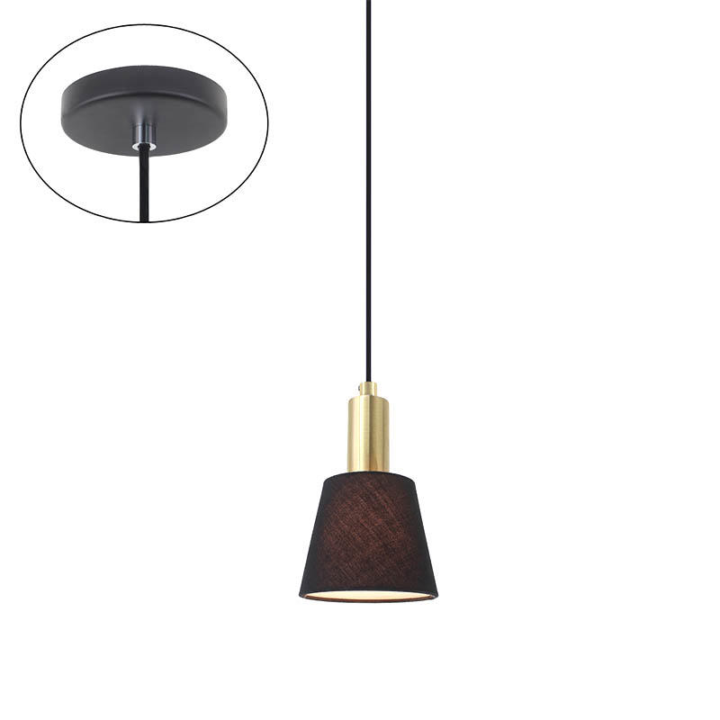 Modern Style Fabric Lamp Shade Single Head Pendant Light M10036