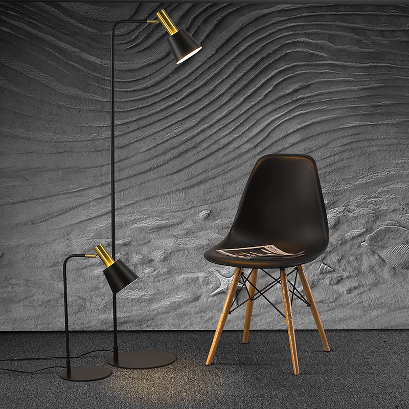Modern Style Black Fabric Lamp Shade Table Lamp M20028