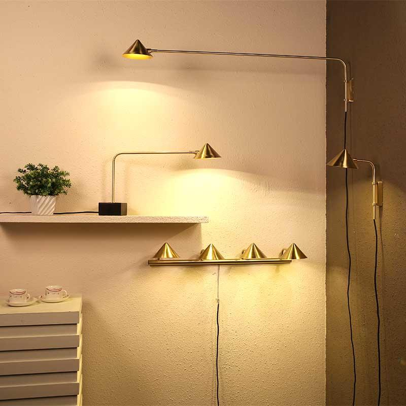 Straw Hat Series Contemporary Brushed Brass Iron Vintage Table Lamp M10470