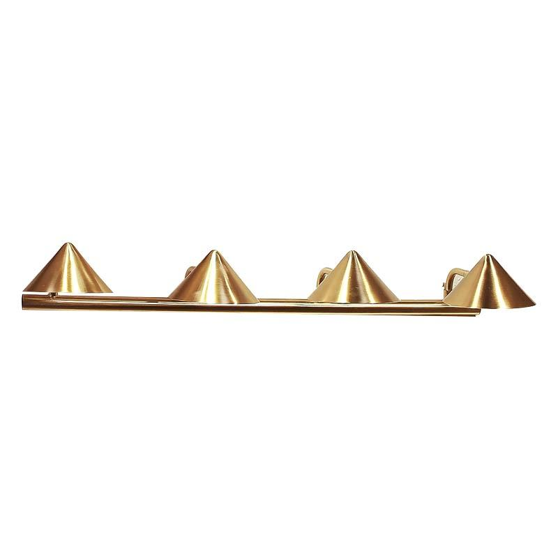 Straw Hat Series Contemporary Brushed Brass Four Head Iron vintage wall lamp M40066