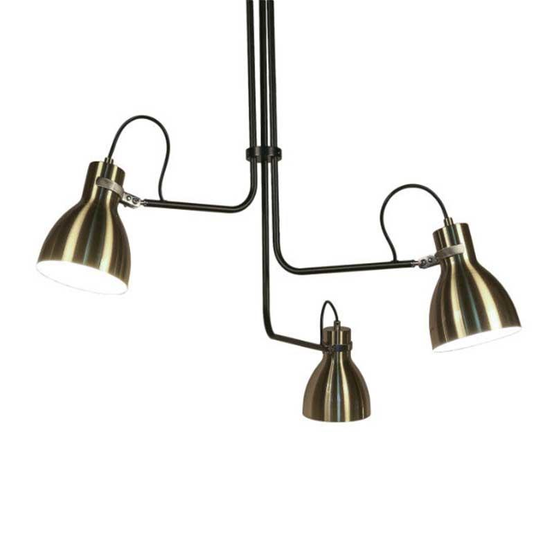 Contemporary Decoration Brushed Iron Three Head Pendant Lights Chandelier M10508