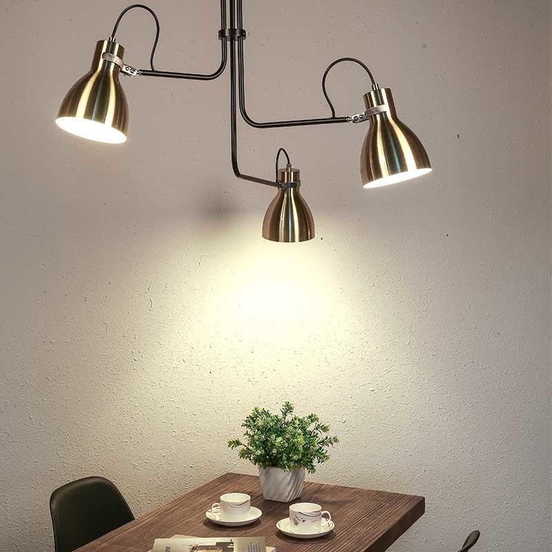 Contemporary Decoration Brushed Iron Three Head Pendant Lights Chandelier M10508