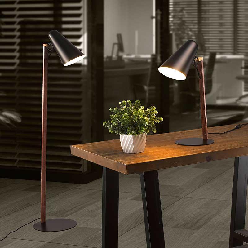 Unique Design Ice Cream Cone Series Indoor Wooden Base Floor Lamp for Living Room M30019