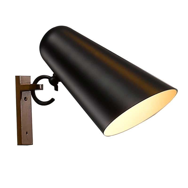 Unique Design Ice Cream Cone Shape Indoor Black Iron Mini Wall Lamp M40022