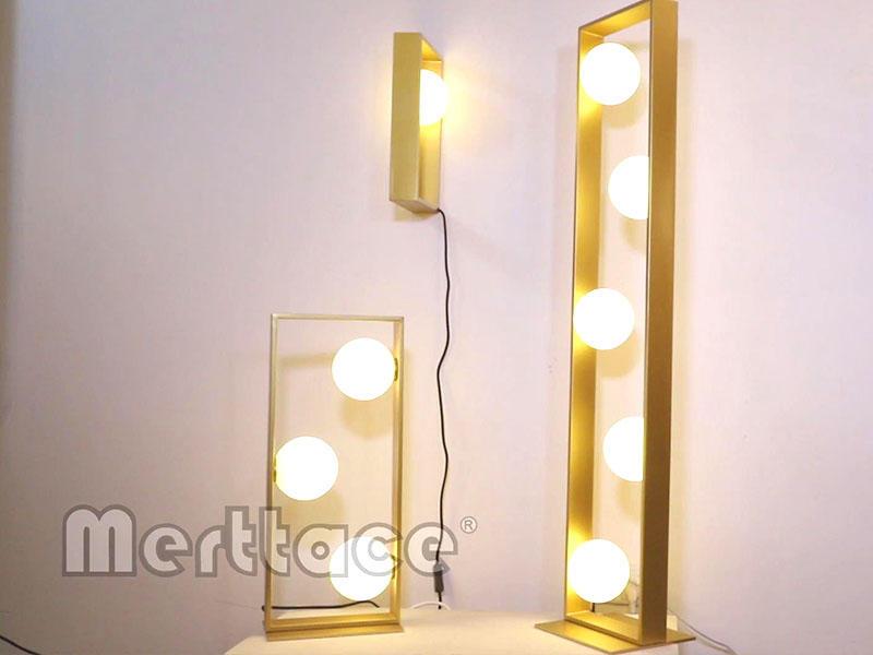 Copper Framework White Glass Ball Lamp Shade Series-M30063&10701&10702&10703&40093&40094.mov