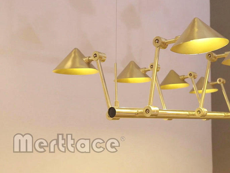 Straw Hat Series Contemporary Brushed Brass  Lights M10470&10471&10472&10510&40066