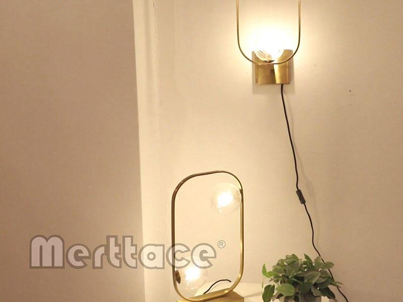 Brass Rectangle Frame Clear Glass Ball Series M10751&10752&10753&10754