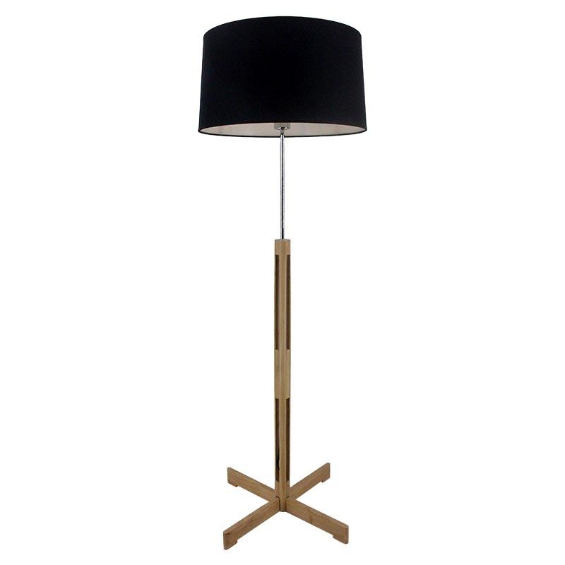 Wooden Simple Fabric Lamp Shade Standup Lamp for Home M3041
