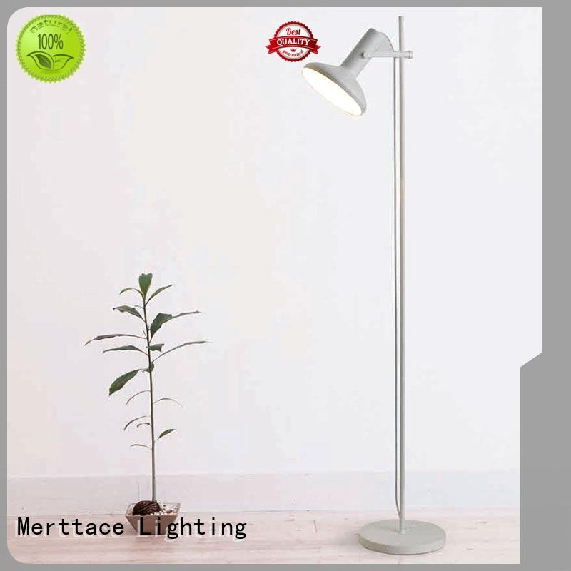 Merttace rose gold stand up floor lamps with good price for restaurant