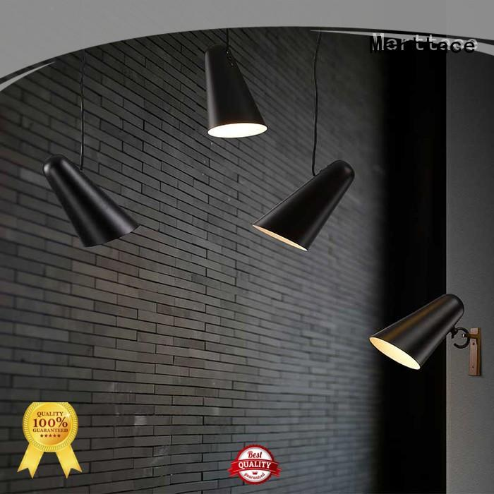 Merttace black iron hanging pendant lights with good price for living room