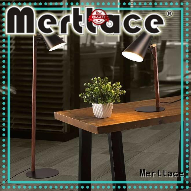 Merttace fashion swing arm floor lamp head shaking for bedside