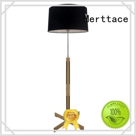 Merttace wooden floor standing reading lamp wholesale for bedside