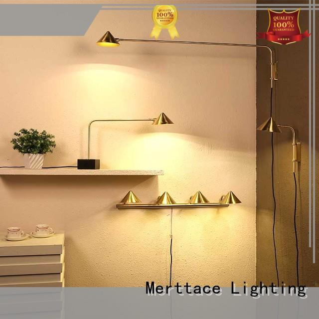 Merttace brushed brass wall mount plug in lamp wholesale for living room