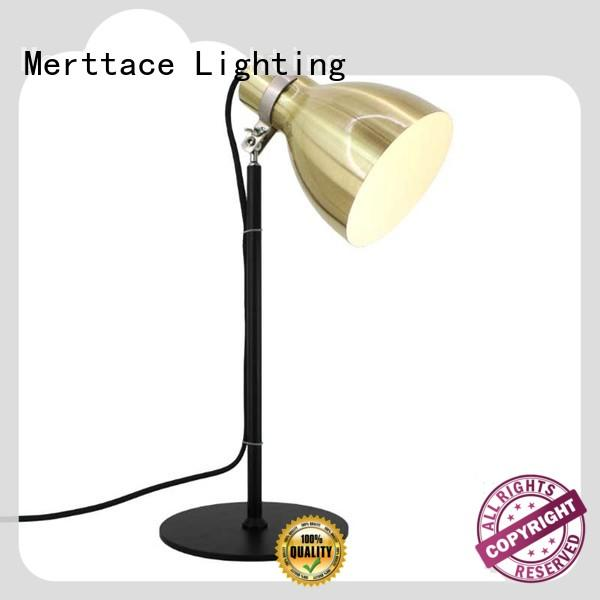 Merttace brushed brass iron bedside table lights with good price for home decoration