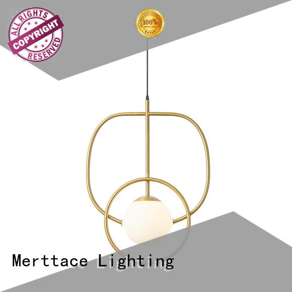 Merttace frosted glass square hanging pendant light fixtures design for bedroom