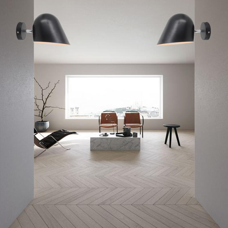 Adjustable Minimalism Design Black Iron Lamp Shade Wall Sconce M40021