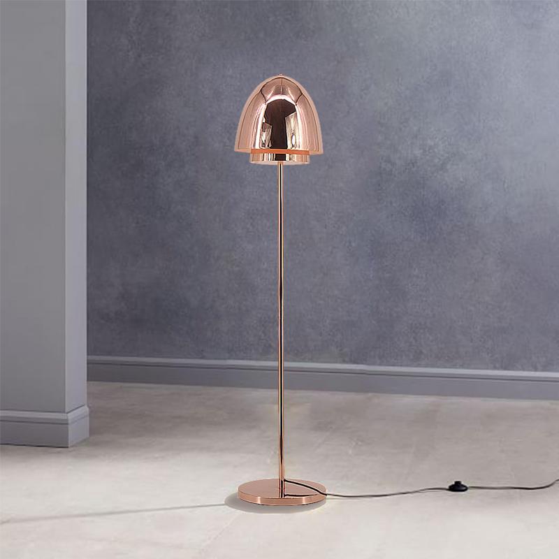 Modern Design Electroplating Rose Gold Egg-Shaped Lampshade Floor Lamp  M30615