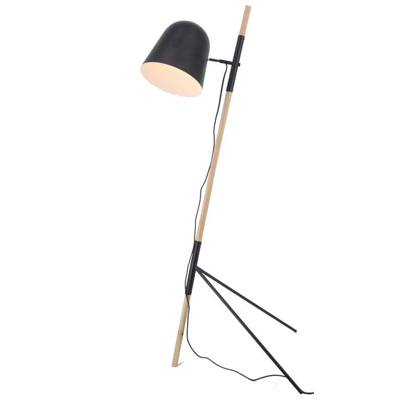 Simple Design Wood Tripod Adjustable Lamp Shade Floor Lamp M30189