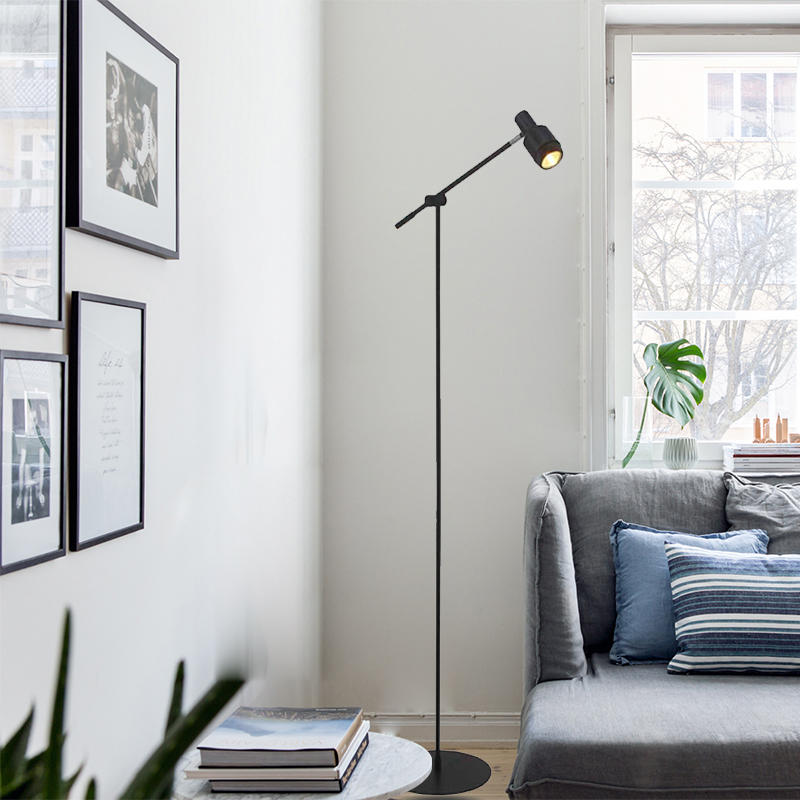 Modern Design Small Lampshade Shaking Head Reading Floor Lamp M2034