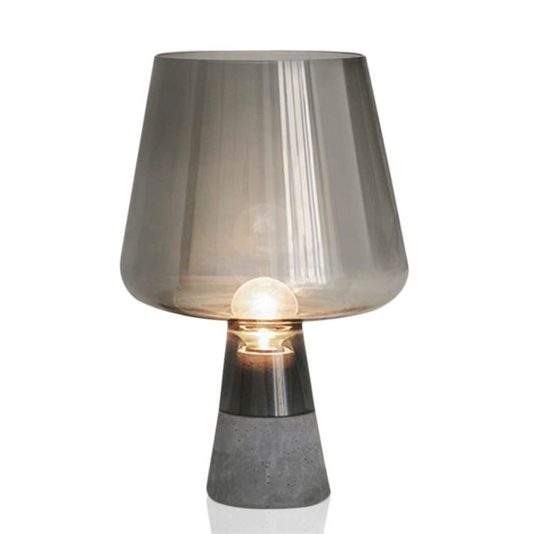 Contemporary Design Cement Base Wine Glass Table Lamp M20047