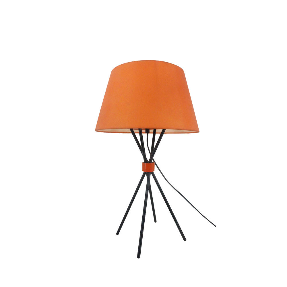 Modern orange cloth lampshade four-legged table lamp M2039