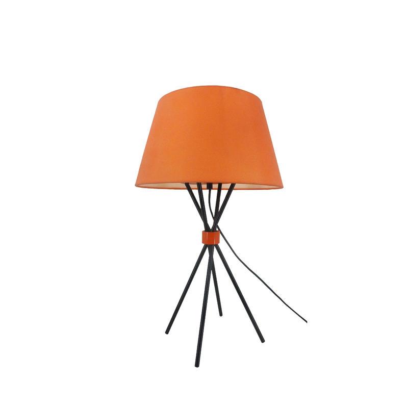 Modern orange cloth lampshade four-legged table lamp M2039