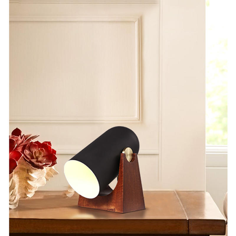 Wood Base Adjustable Decorative Cannon Table Lamp M20045