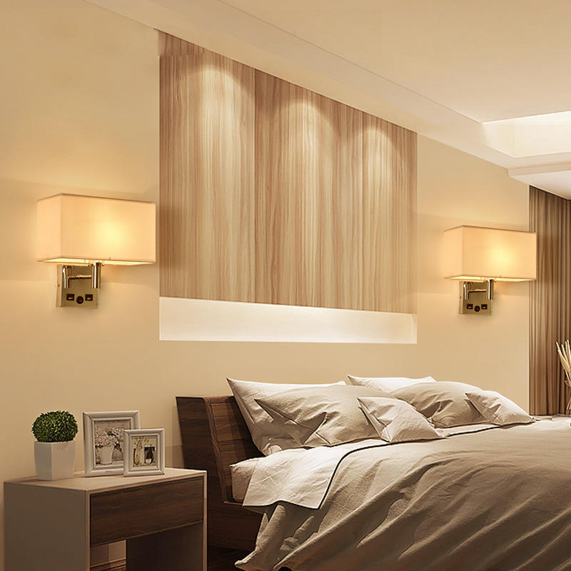 Hotel Project Modern Design Wall Lamp with USB Charging Port M40171