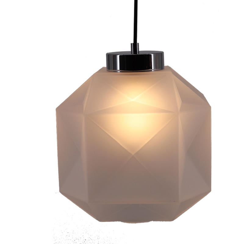 Succinct Frosted Glass Square Pendant Light for Hotel Restaurant M10789