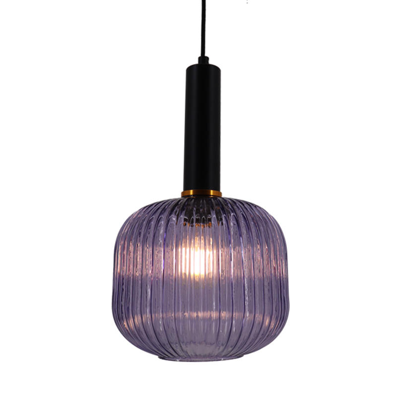Water Ripple Pumpkin Purple Glass Hanging Lamp M10796