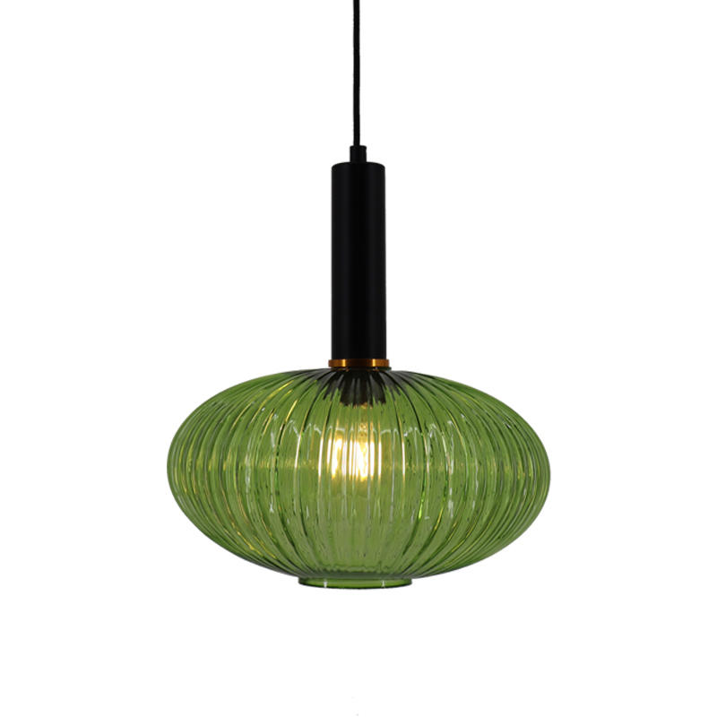 Water Ripple Lantern Stained Glass Pendant Lamp M10797