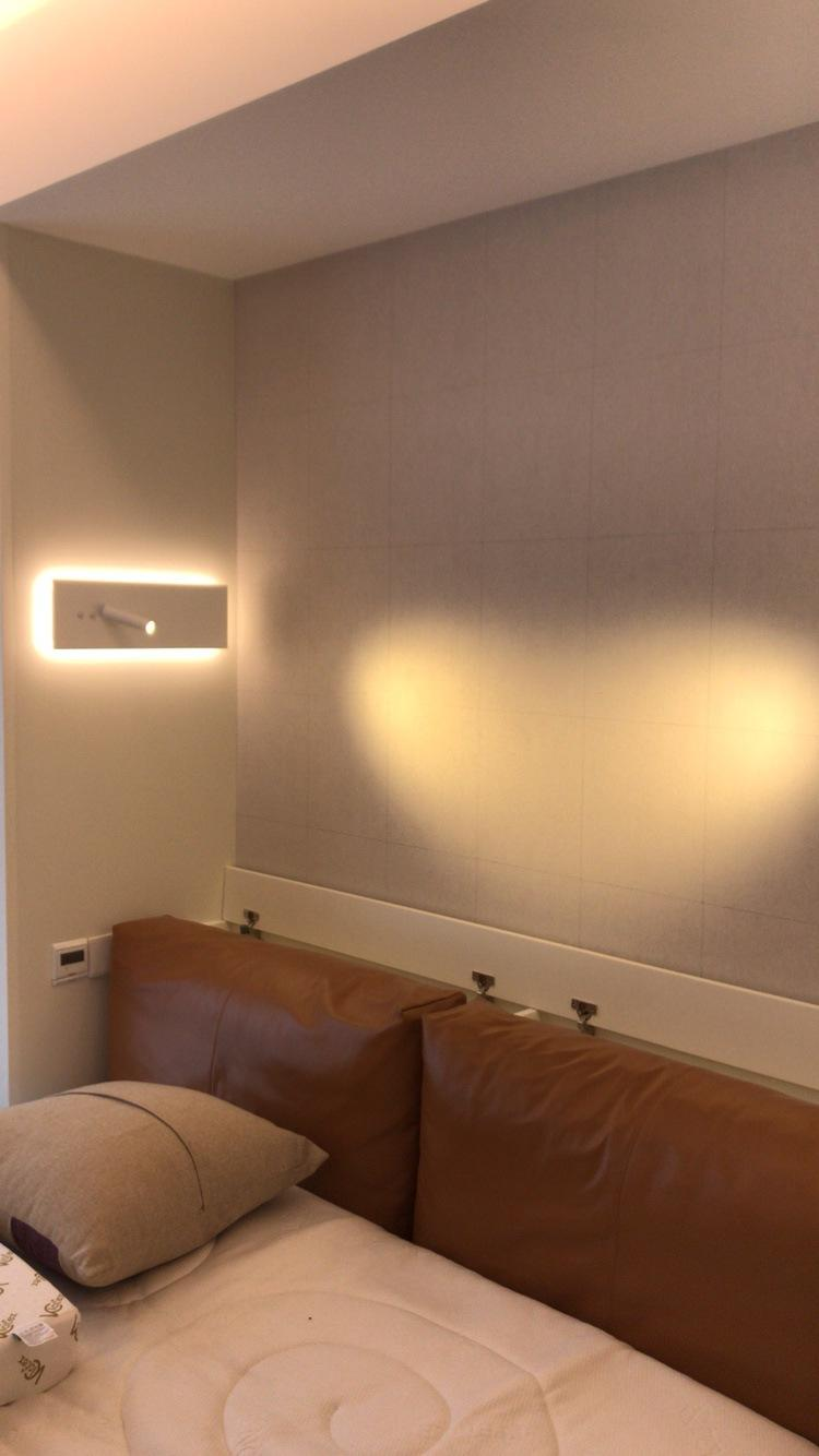 Contemporary Style LED Wall Reading Lamp with Ambient Lighting for Hotel Room M40180