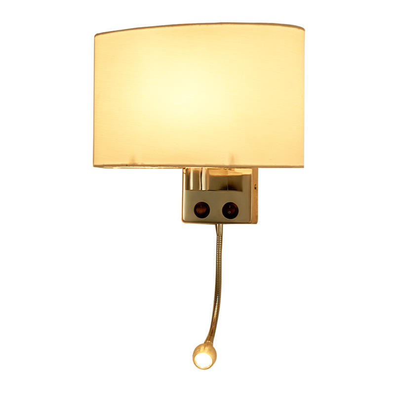 Fabric Lamp Shade LED Reading Wall Lamp for Hotel Room M40264