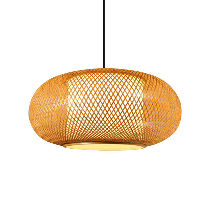 Chinese Traditional Lantern Bamboo Pendant Light for Restaurant M10903