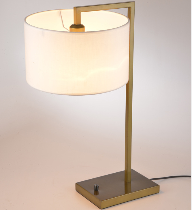 Modern Minimalist Design Copper Fabric Lamp Shade Table Lamp M20145