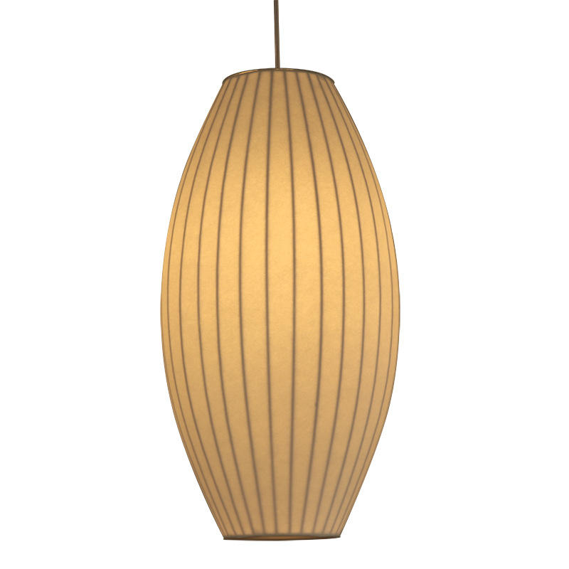 Chinese Traditional Style Waist Drum Shape Silk Pendant Light for Hotel M10921