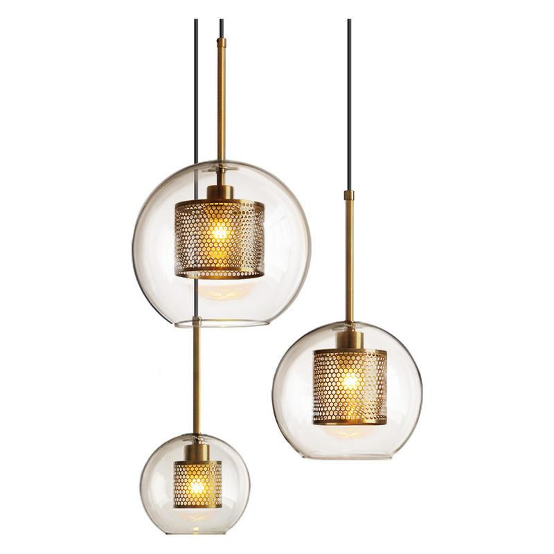 Vintage Modern Copper Glass Bubble Ball Pendant Lights for Living Room M10915