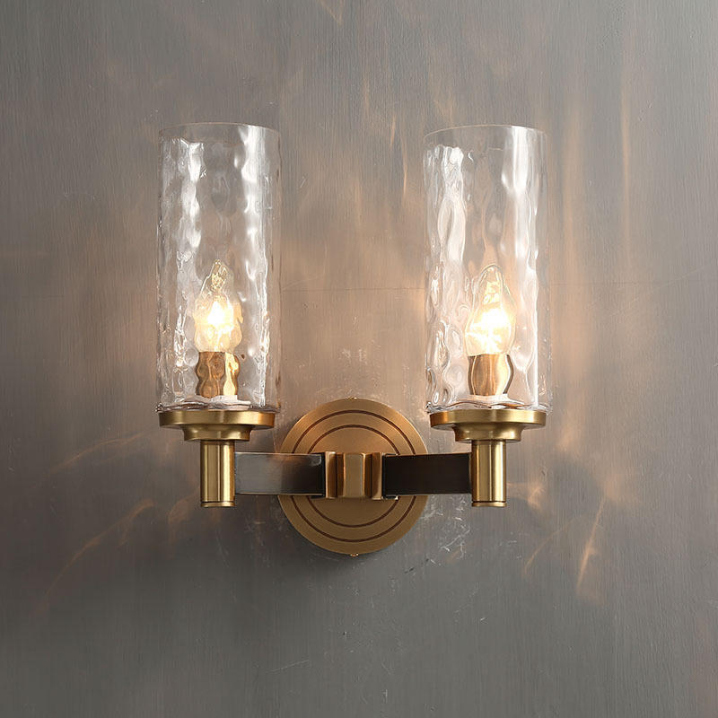 2 Head Luxury Hotel Mid Century Copper Candle Holder Wall Mounted Sconces M40285