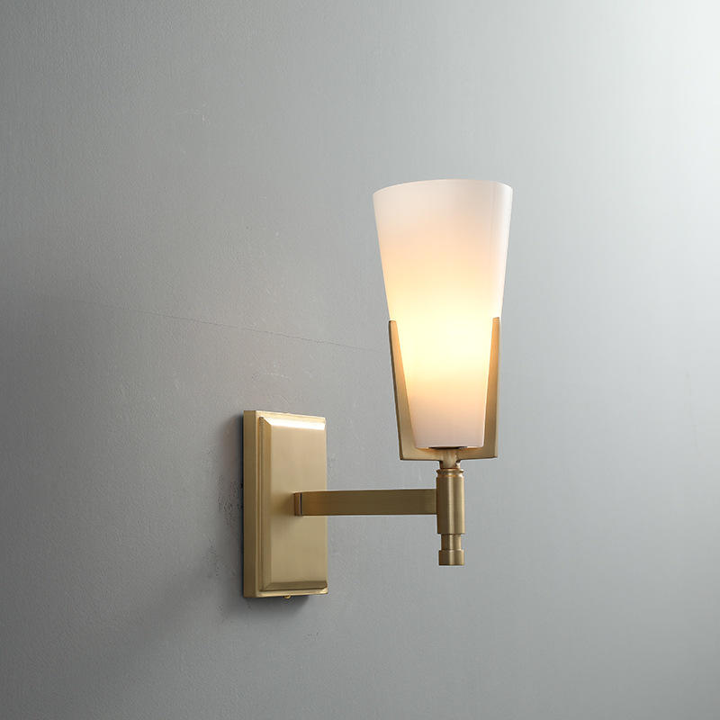 Luxury Decoration Opal White Glass Wall Light for Bathroom Mirror M40286