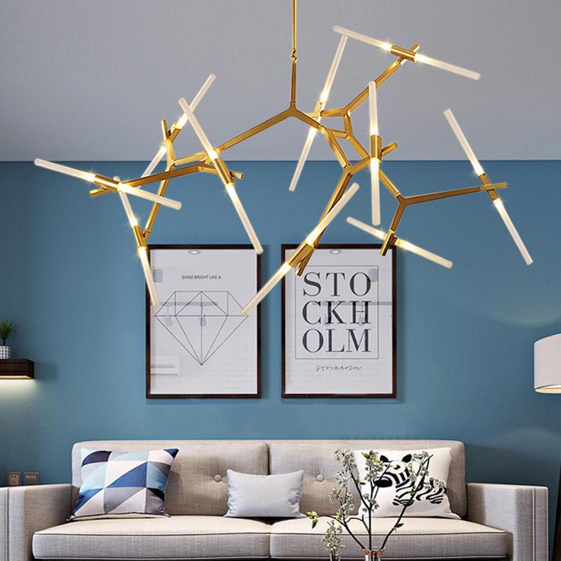 New Design Gold Modern LED Chandeliers Pendant Lights for Luxury Hotel Lobby Factory OEM/ODM M10968