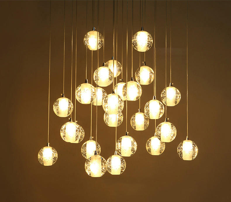 Modern Style Luxury Crystal Chandelier LED Rain Drop Lighting for Hotel Lobby M10992
