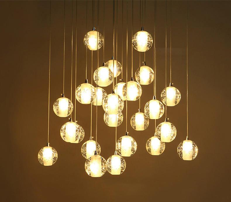 Modern Style Luxury Crystal Chandelier LED Rain Drop Lighting for Hotel Lobby M10992