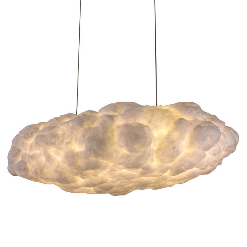 Large Postmodern Design Floating Cotton Cloud Pendant Chandelier Shopping Mall Hotel Lobby M11019