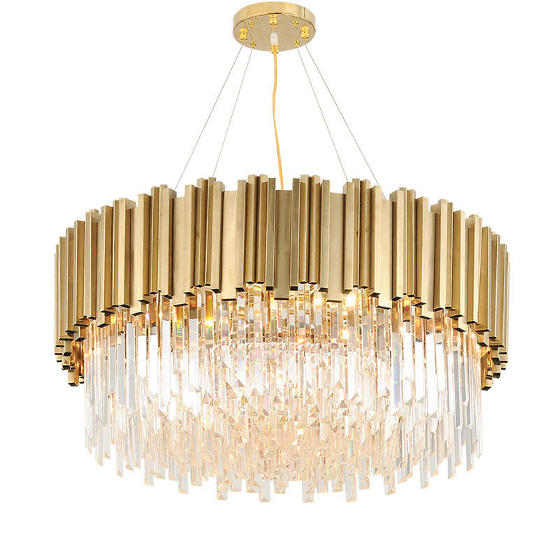 Luxury Indoor Modern Decorative Crystal Brass Chandelier for Hotel Lobby Banquet M11053
