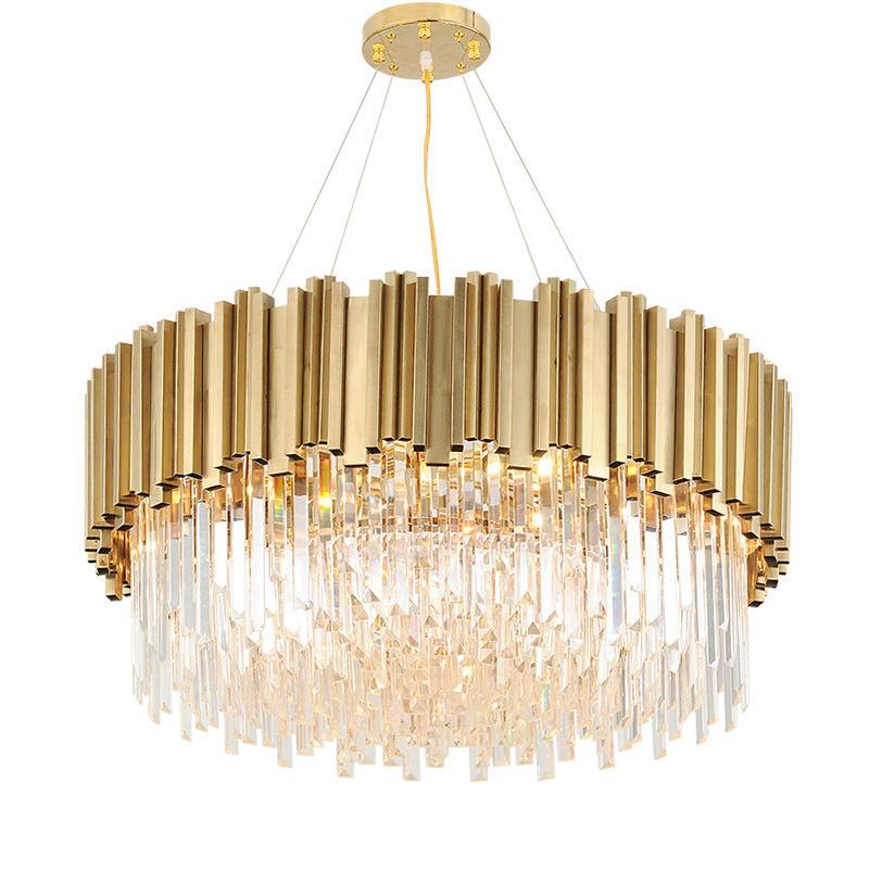Luxury Indoor Modern Decorative Crystal Brass Chandelier for Hotel Lobby Banquet M11053