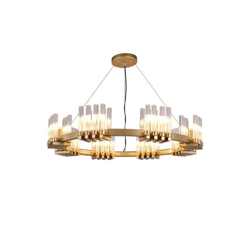 Luxury Indoor Decorative Brass Chandelier with Glass Shade M11063