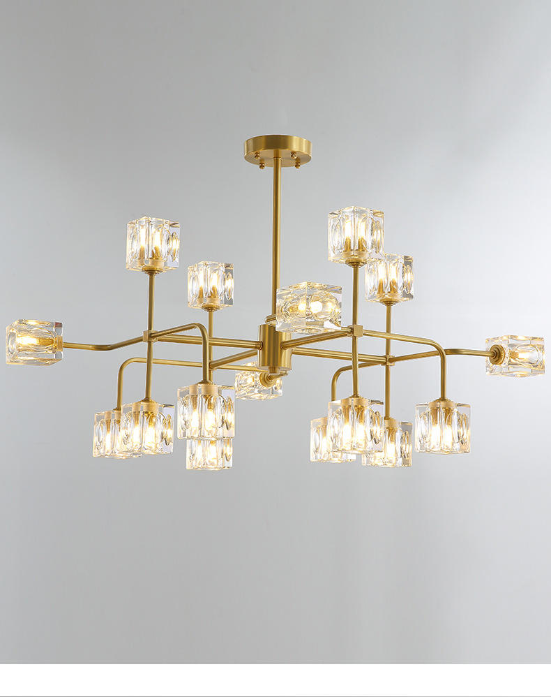 Modern Decoration 8/12/16 head  Brass Crystal Chandelier M11079