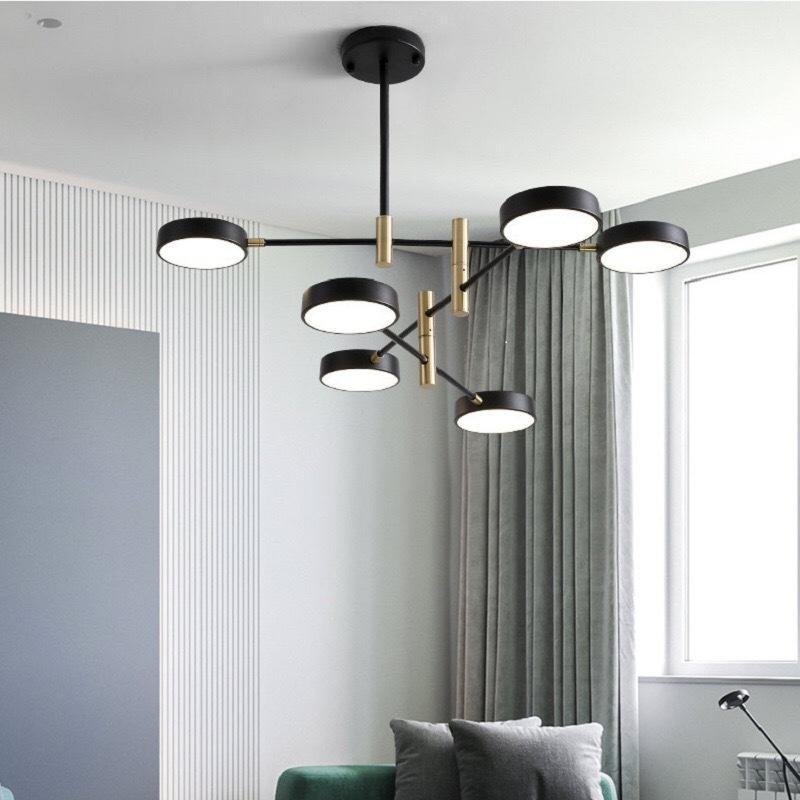 4/6/8 Lights Contemporary Design 10W Warm White Iron and Acrylic LED Chandelier Pendant Light M11068