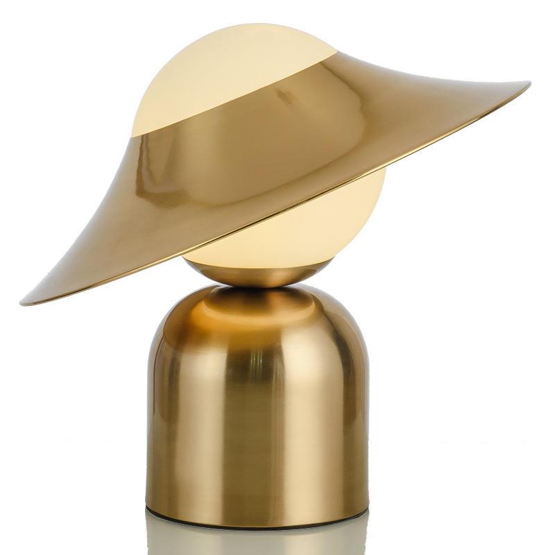 Modern Luxury Glass Brass Table Lamp for Hotel Living Room M20220
