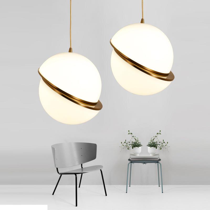 Modern Designer Multiple Size Iron and Acrylic Ball Pendant Light M11099